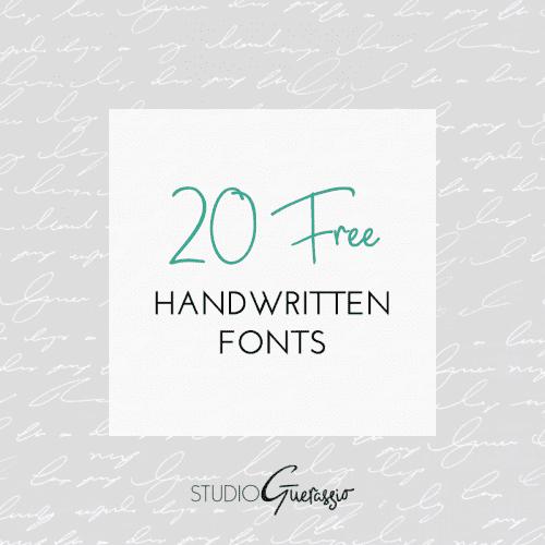 20 Free Handwritten Fonts