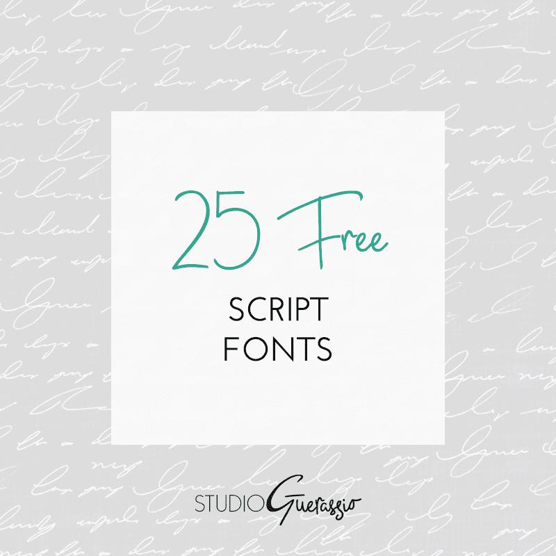 25 Free Script Fonts