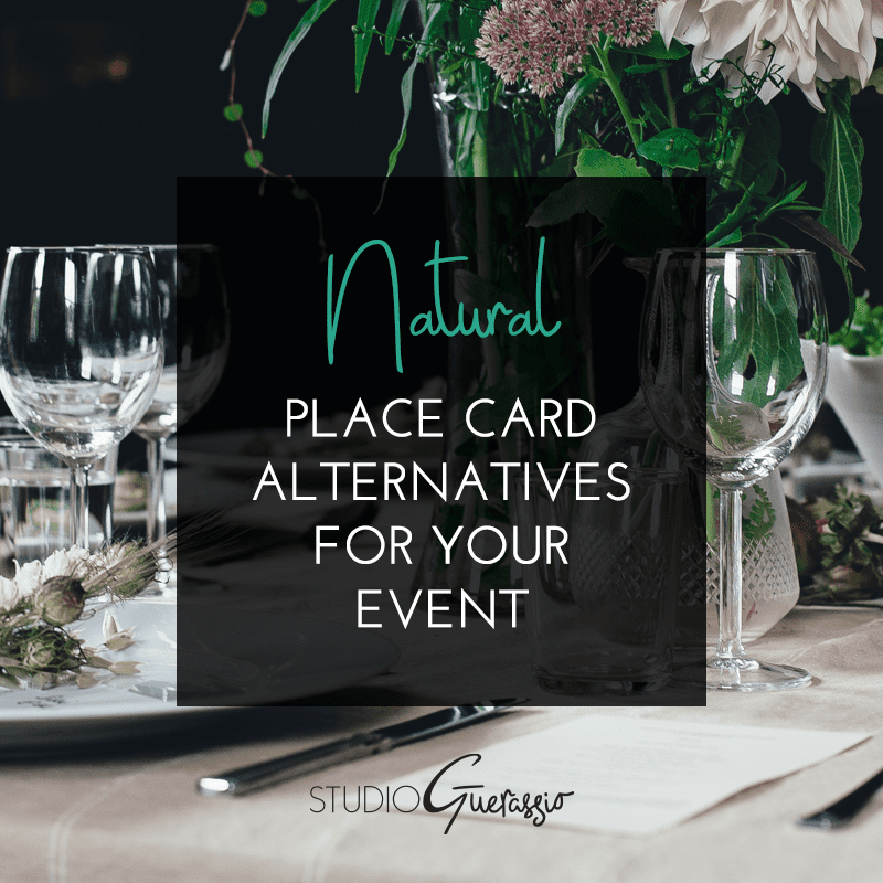 Natural Place Card Alternatives for Your Event