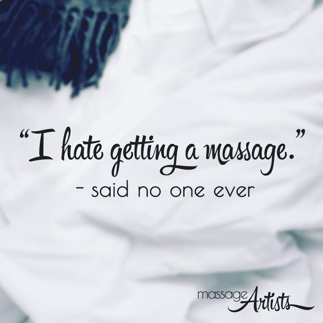 Massage Artists Instagram image